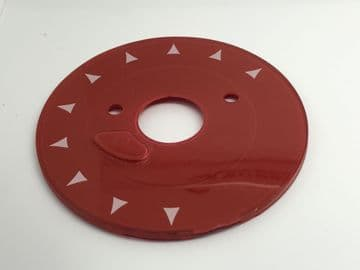 GPO Lacquer Red Chevron Telephone Dial Back Plate
