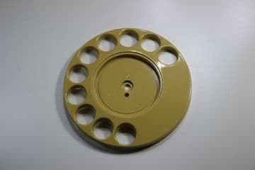 GPO Topaz Yellow Rotary Telephone Finger Dial