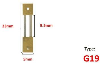23mm x 9.5mm x 5mm - Type G19
