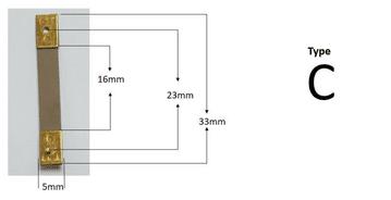 33mm x 16mm x 5.5mm - Type C