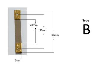 37mm x 20mm x 5mm - Type B