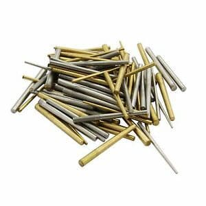 Assorted Brass & Steel Tapered Pins