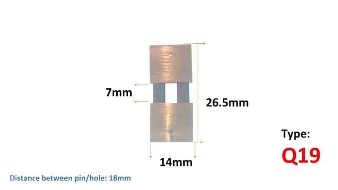 Brass Clock Suspension - 26.5 x 7 x 14mm - (Q19)