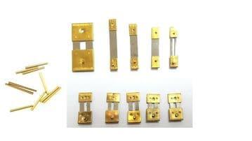 Brass Clock Suspension Springs & Pins (10sp)
