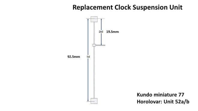 Kundo Miniature 77 (Unit 52a/b) 400 Day Suspension Complete Unit