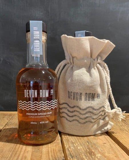 Devon Rum 200ml in a Jute Presentation Bag