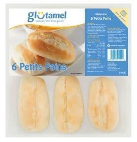 Glutamel Part Baked Petit Pains x 6