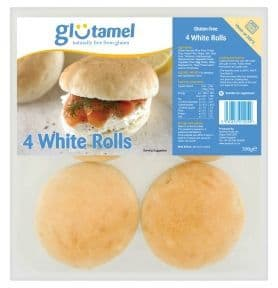 Glutamel Part Baked Rolls x 4
