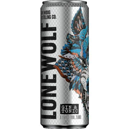 Lonewolf Gin & Tonic 6.5% abv 250ml