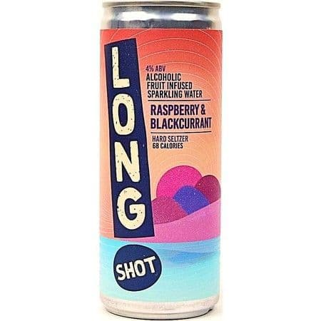 Long Shot Hard Seltzer Raspberry & Blackcurrant 250ml 4% abv