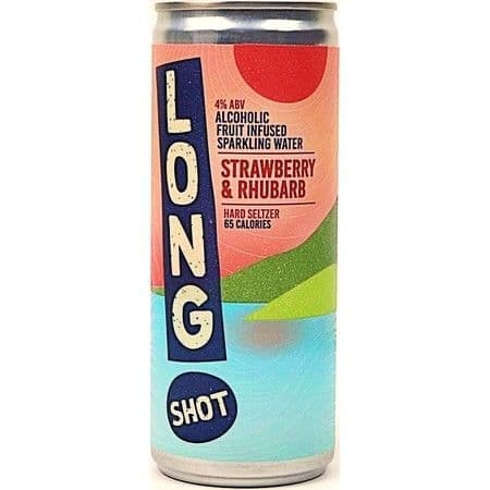 Long Shot Strawberry & Rhubarb Hard Seltzer 250ml 4%abv