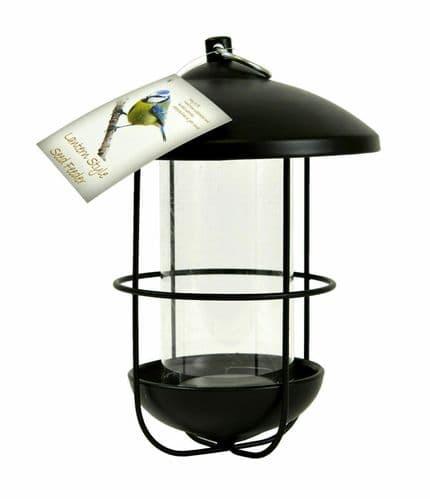 Black Lantern Shaped Wild Bird Feeders - Seed - Garden Lantern - Bird Feeder