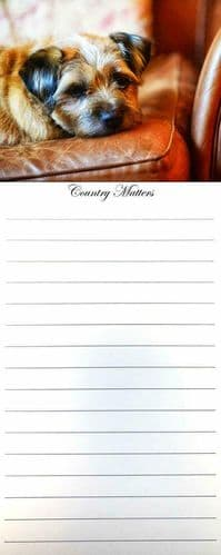 Border Terrier Flirty Gerty Magnetic 50 Page Memo Pad, Country Matters,