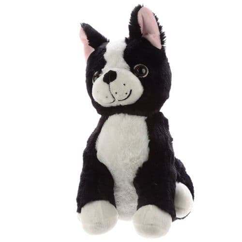 Cute Black and White Dog Plush Door Stop