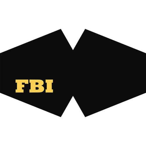 FBI Reusable Fashion Face Covering (Adult)