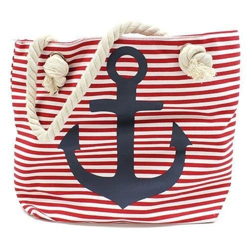 Rope Handle  Blue Anchor Bag