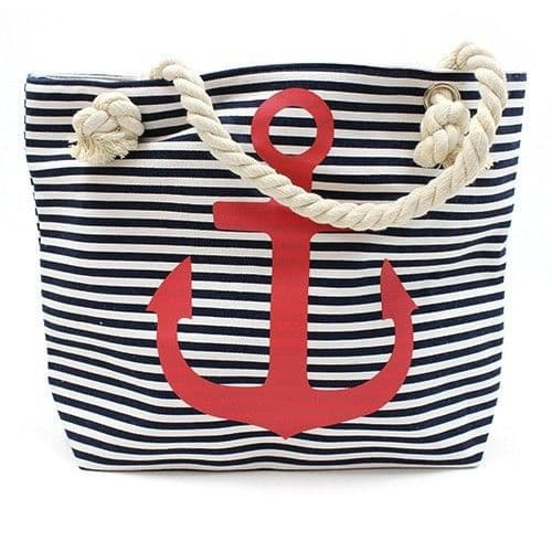 Rope Handle Red Anchor Bag