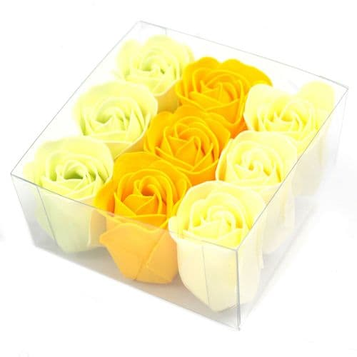 Set of 9 Spring Roses - Soap Flowers