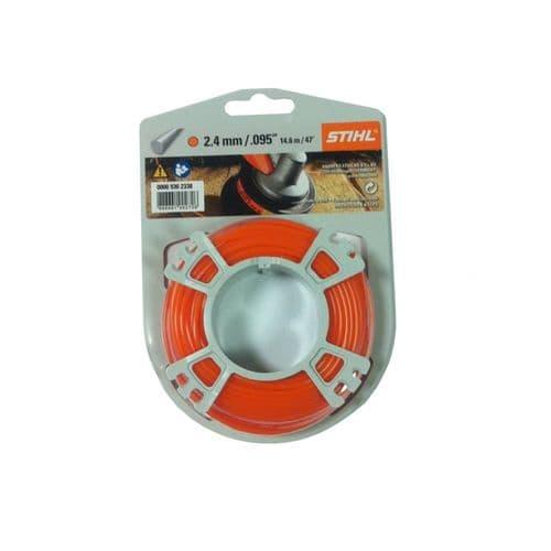 Genuine Stihl Trimmer line ROUND (ORANGE) 2.4mm x 14.6M Product Code 0000 930 2338