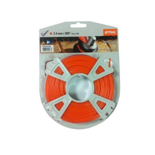 Genuine Stihl Trimmer line ROUND (ORANGE) 2.4mm x 43M Product Code 0000 930 2339
