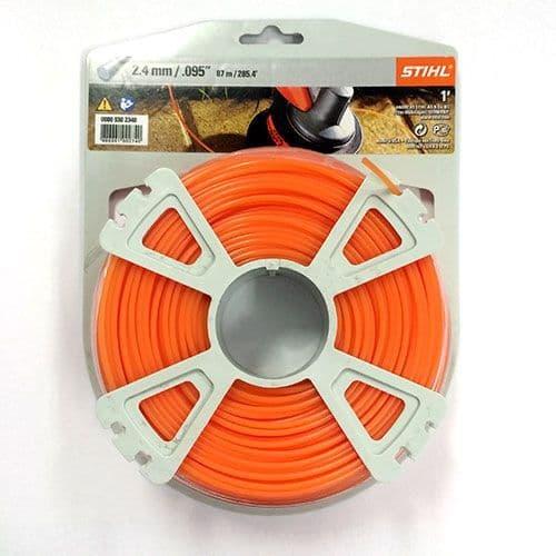 Genuine Stihl Trimmer line ROUND (ORANGE) 2.4mm x 86M Product Code 0000 930 2340