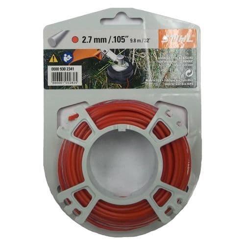 Genuine Stihl Trimmer line ROUND (RED) 2.7mm x 9.8M Product Code 0000 930 2341