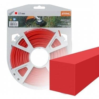 Genuine Stihl Trimmer line SQUARE (RED) 2.7mm x 34M Product Code 0000 930 2642