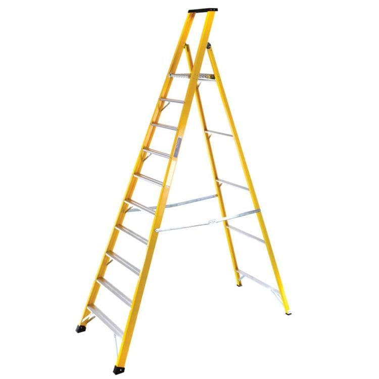 Heavy-Duty Fibreglass Platform Step Ladders