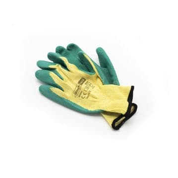 Protective Safety Gloves Medium Weight Latex Coated EN388 2121 EN420 - Large