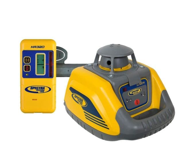 Spectra Precision LL100N Rotating Laser Level with HR320 Receiver / Sensor