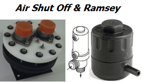 Air Shut off Valves and Ramsey