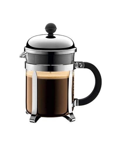 BODUM CHAMBORD COFFEE MAKER 4 CUP STAINLESS STEEL