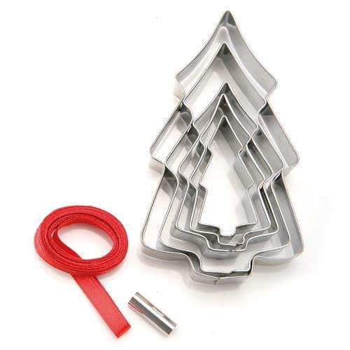 CHRISTMAS TREE COOKIE CUTTER TREE DECORATIONS KIT