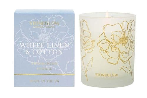 DAY FLOWER WHITE LINEN & COTTON CANDLE