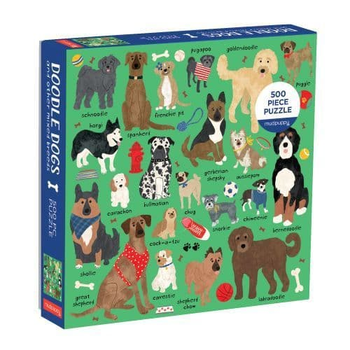 DOODLE DOG & OTHER MIXED BREEDS 500 pc FAMILY PUZZLE