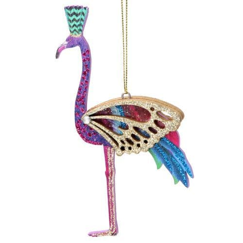 GISELA GRAHAM WOOD FLAMINGO DECORATION