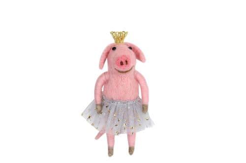 GISELA GRAHAM WOOL MIX PINK BALLERINA PIG