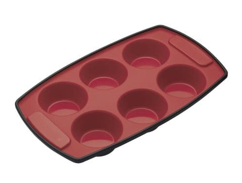 MASTERCLASS SILICONE 6 HOLE BAKING PAN