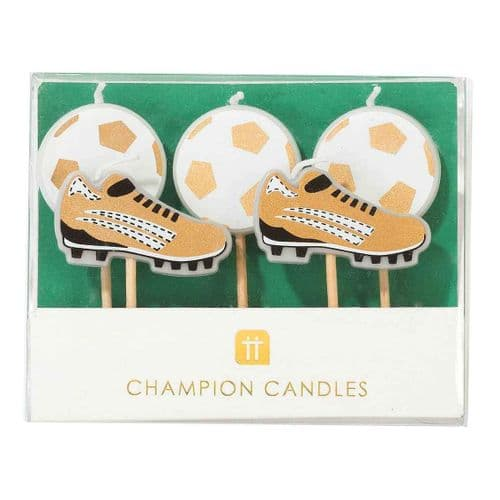 PARTY CHAMPIONS CANDLES PACK 5