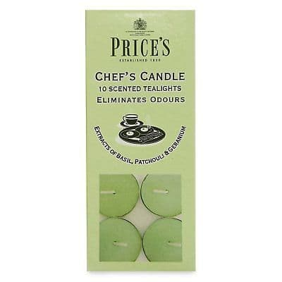 PRICES CHEF'S CANDLE TEALIGHTS X10