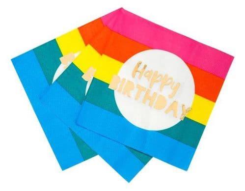 RAINBOW BRIGHTS BIRTHDAY NAPKINS PACK 16