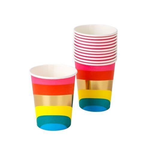 RAINBOW PAPER CUPS 12 PACK