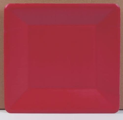 RED GROS GRAIN SIDE PLATE