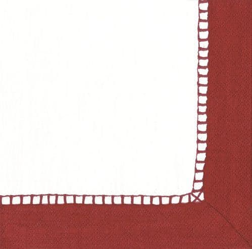 RED LINEN LUNCH NAPKIN