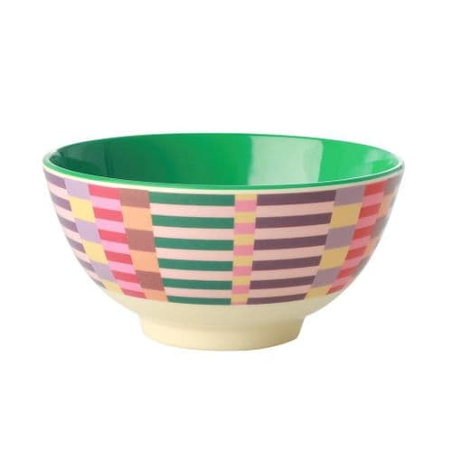 RICE BOWL MEDIUM SUMMER STRIPES MELAMINE