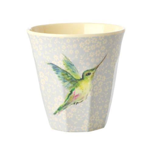 RICE CUP MEDIUM HUMMINGBIRD MELAMINE