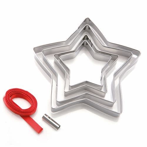 STAR COOKIE CUTTER TREE DECORATION KIT