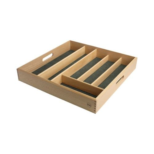 T&G BEECH CUTLERY TRAY DRAWER SIZE