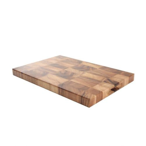 T&G TUSCANY RECTANGULAR END GRAIN BOARD ACACIA