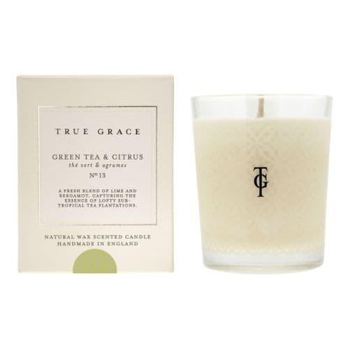 TRUE GRACE VILLAGE CLASSIC CANDLE GREEN TEA & CITRUS